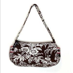 Vera Bradley Small Brown & White Floral Bag